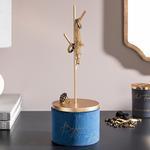 Ferlin Velvet Jewelry Holder 11x11x31,5 Cm Blue