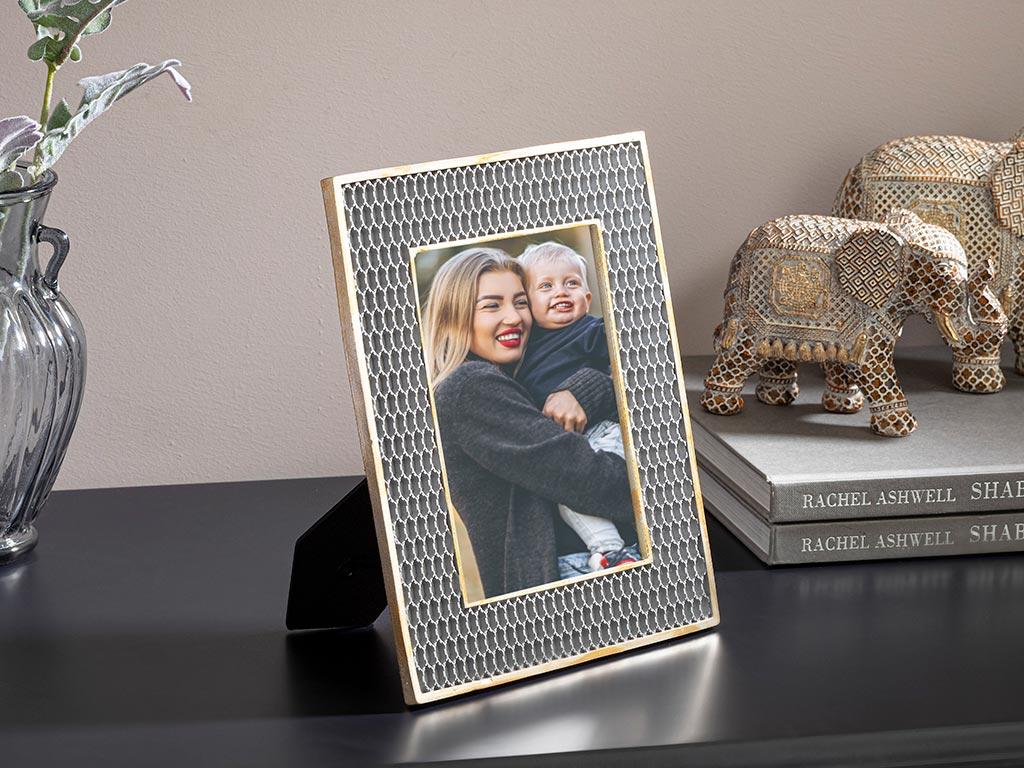 Evelyn Polyresin Frame 40x24x3.5 Cm Silver
