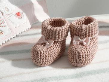 Soft Бебешки Чорапи 6-12 Месеца Розово