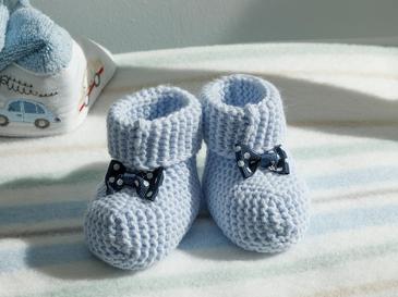 Soft Бебешки Чорапи 6-12 Месеца Светлосиньо