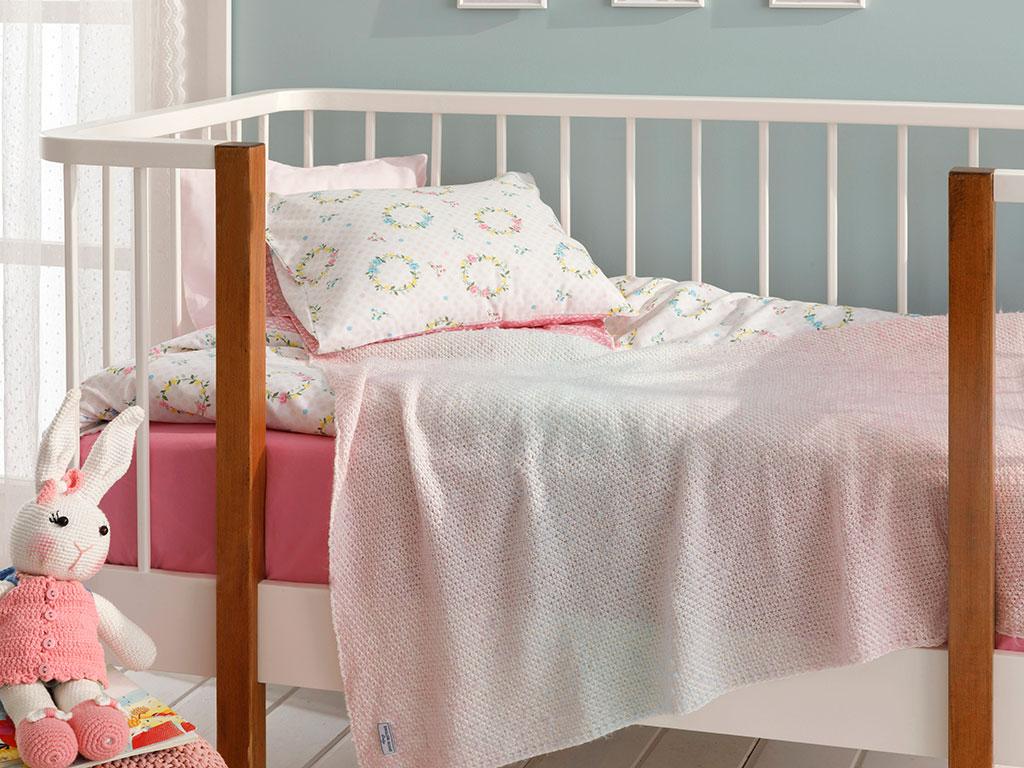 Degraded Baby Blanket 80x120 Cm Pink