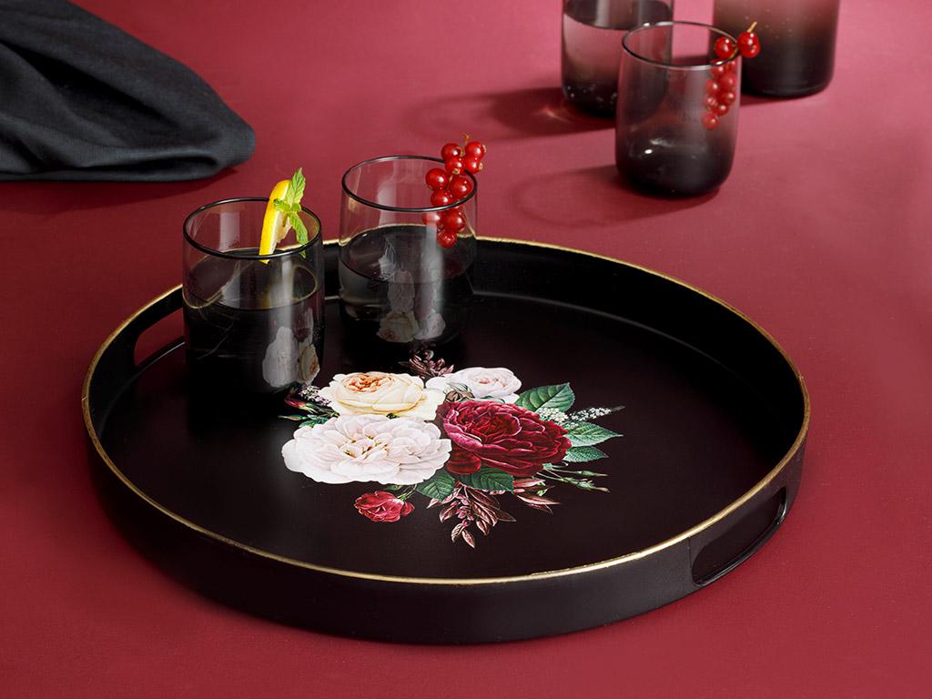 Andrea Plastic Tray 35 Cm Black