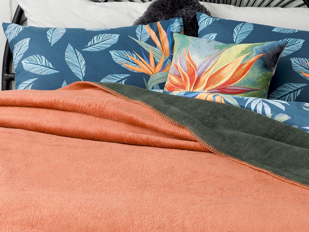 Plain Cotton Blanket Double Size 200x220 Cm