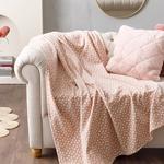 Dots Fleece Tv Blanket 120x170 Cm Powder