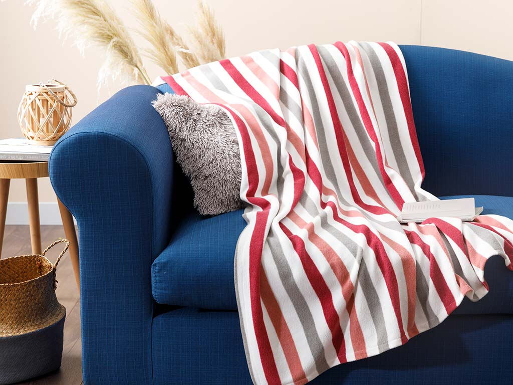 Stripe Polar Tv Blanket 120x150 Cm