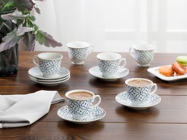 Belize Комплект Чаши за Кафе 12 Бр. 90 Мл Синьо