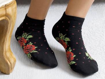 Flower Dots Чорапи Стандарт Черно