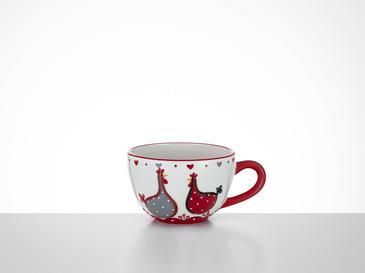 Chick Heart Чаша 16,5x13x8,3 См Червено-Бяло