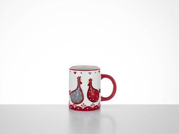 Chick Heart Чаша 11,5x8x9,5 См Червено-Бяло