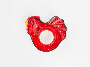 Chick Heart Свещник 14x12x3,5 См Червено