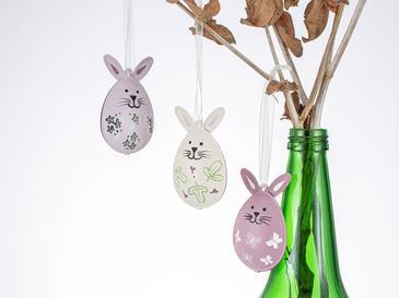 Rabbit Ear Висяща Декорация 2x7,5x20 См Розово
