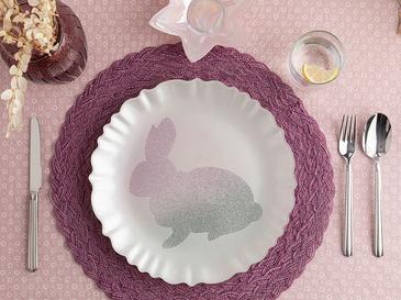 Rabbit Чиния Стъкло 28 См Розово