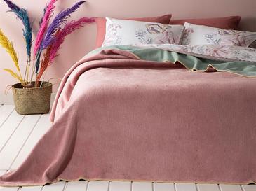 Plain Одеяло Единичен Размер 150x200 См Розово-Мента