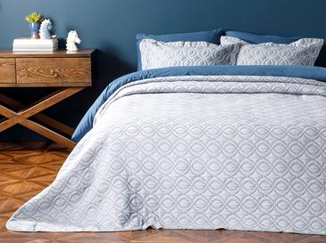 Morris Cover Комплект Покривало за Легло Единичен Размер 180x240 См Тъмносиньо