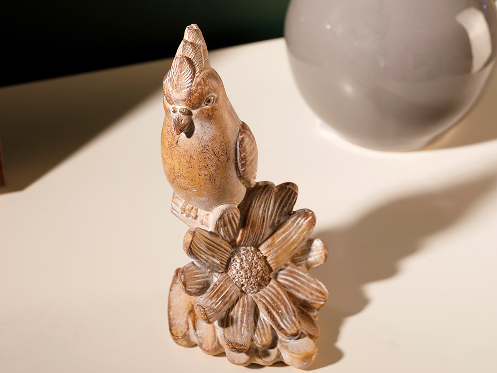 Wolin Polyresin Decorative Object 6,5x6,3x12,3 Cm Beige