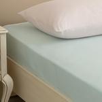 Plain Cotton Bed Sheet Single Size 160x240 Cm Light Seledon