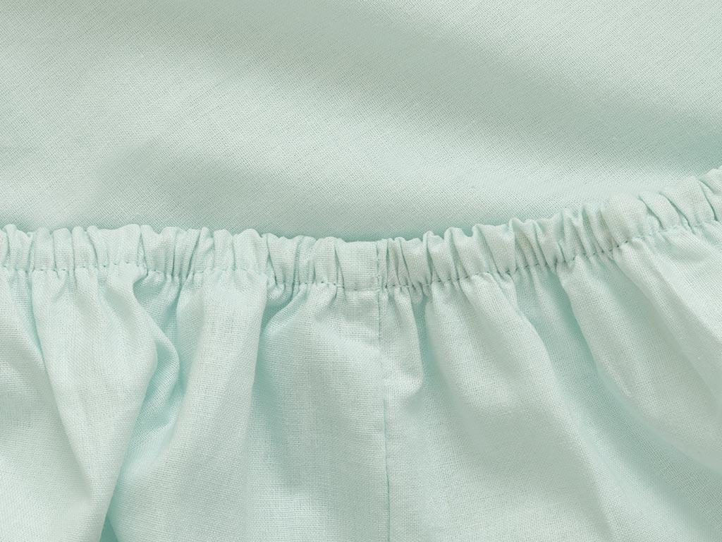 Plain Cotton Fitted Bed Sheet 200x200 Cm Light Seledon