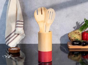 Lina Bamboo Сет за Готвене 4 Бр. 7x16 См Бордо