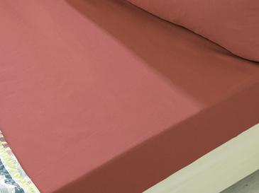 Plain Комплект Чаршафи с Ластик Единичен Размер 100x200 См Тъмно Пепел от Рози
