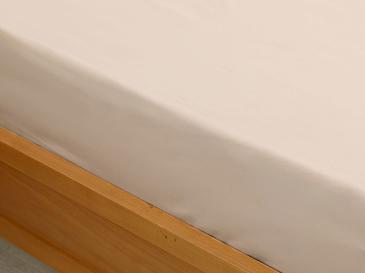 Plain Памучен Чаршаф Единичен Размер 160x240 См Кафе