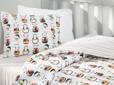 Penguins Комплект Бебешко Спално Бельо 100x150 См Сиво
