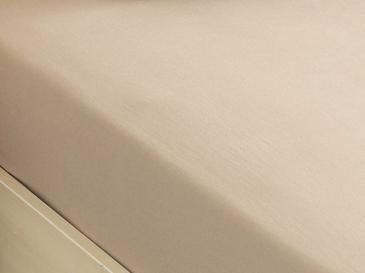 Plain Комплект Чаршафи с Ластик Двоен Размер 160x200 См Кафе