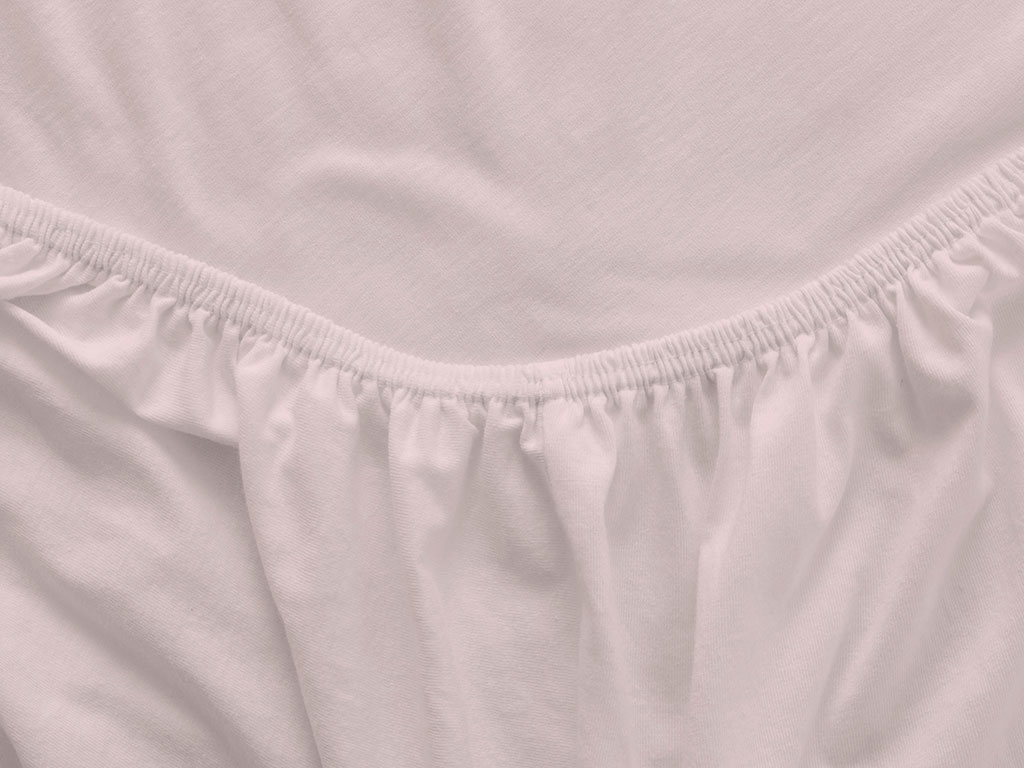 Plain Cotton Fitted Bed Sheet Set Double Size 160x200 Cm Pink