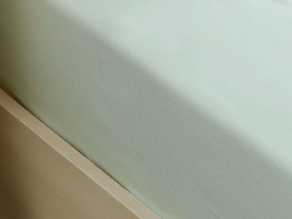 Plain Cotton Fitted Bed Sheet Set Single Size 100x200 Cm Light Celadon