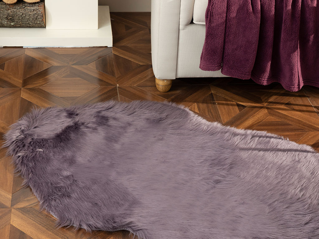 Jade Acrylic Fake Fur 80x150 Cm Damson