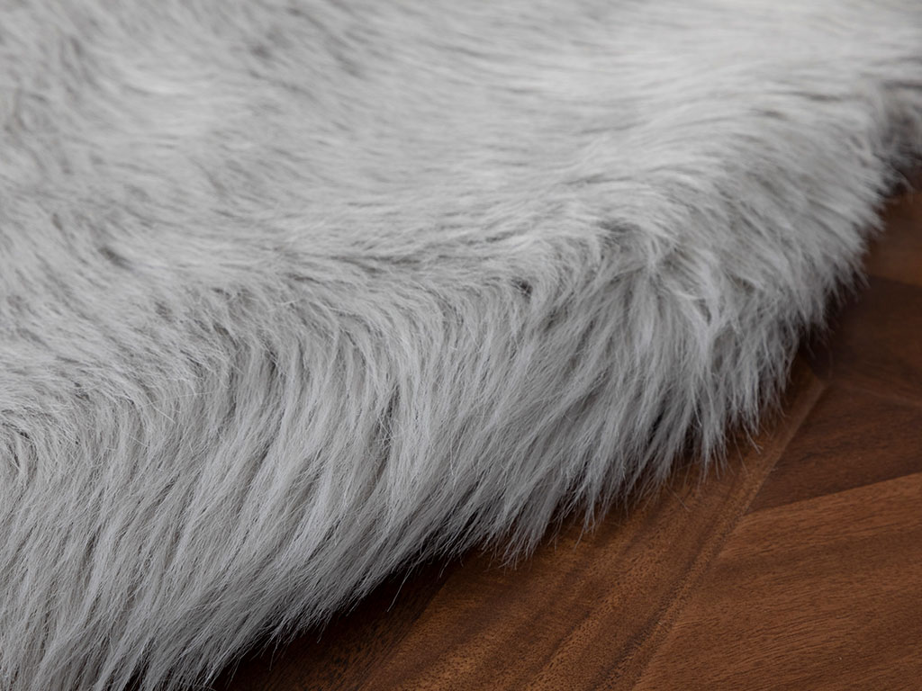 Jade Acrylic Fake Fur 120x180 Cm Gray