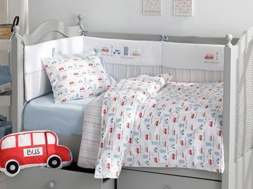 Mini Cars Комплект Бебешко Спално Бельо 100x150 См Синьо
