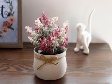 Posy Flowers Изкуствено Цвете с Ваза Керамика 15x15x16 См Лилаво