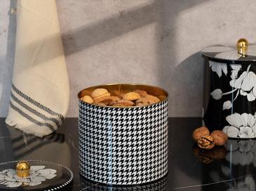 Denby Pied de Poule Кутия За Съхранение 17,5x15,5 См Черно