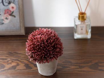 Flower Bunch Изкуствено Цвете с Ваза 11x11x14 См Слива