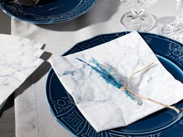 Marble Хартиени Салфетки 33x30 См Бяло