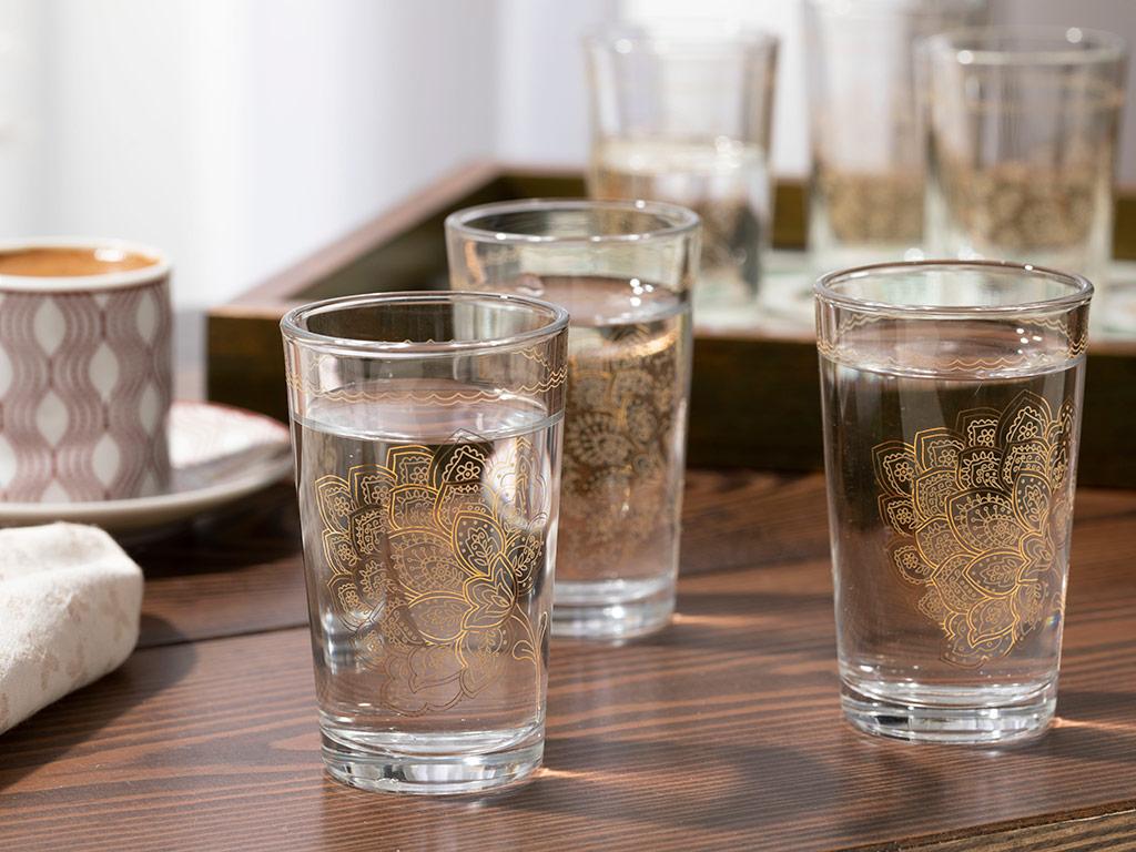 Luba Чаша за Вода 6 Бр. 100 Мл Златистo