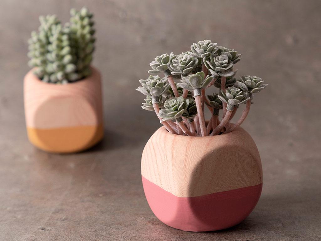 Succulent Seamless Vazolu Yapay Çiçek 105x50x45 Cm Green