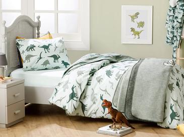 Dinosaurus Комплект Детско Спално Бельо 160x220 См Зелено