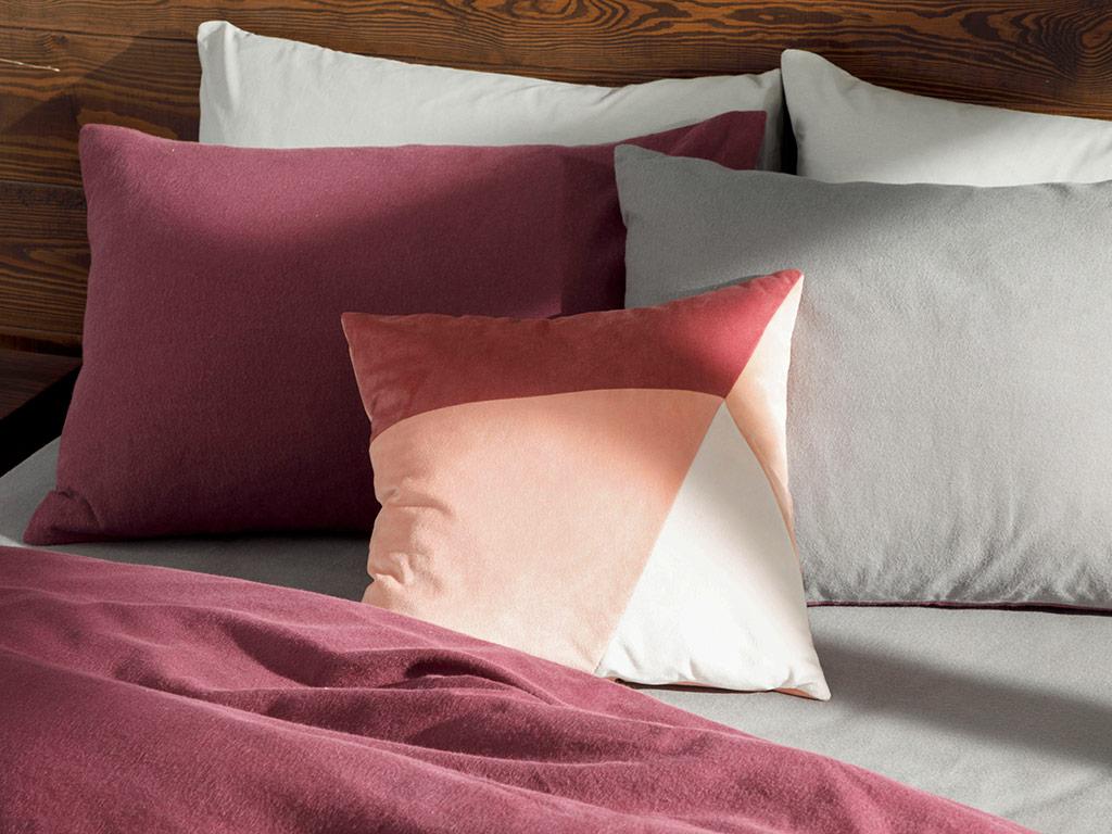 Patchwork Velvet 45x45 Cm Pink-Cream