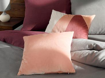 Patchwork Кадифена Декоративна Възглавница с Пълнеж 45x45 См Розово-Кремаво