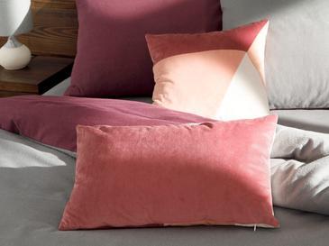 Patchwork Кадифена Декоративна Възглавница с Пълнеж 35x55 См Розово-Кремаво