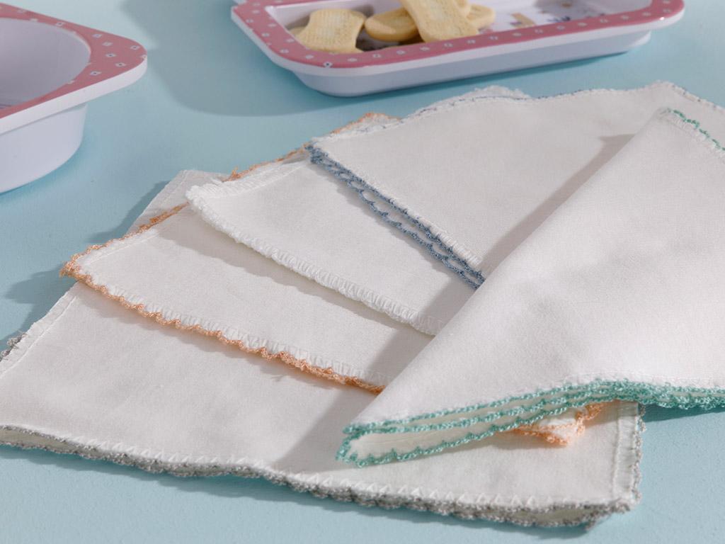 Cotton Baby Cloth 10 Piece 20x20 Cm Cream