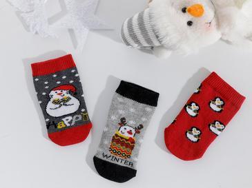 Penguins Бебешки Чорапи 6-12 Месеца Сиво