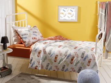 Skateboards Комплект Детско Спално Бельо 160x220 См Оранжево