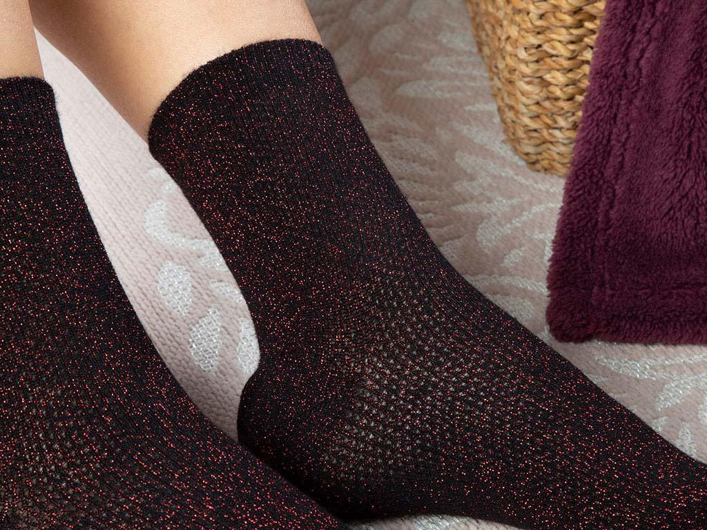 Purler Cotton Women's Socks Black