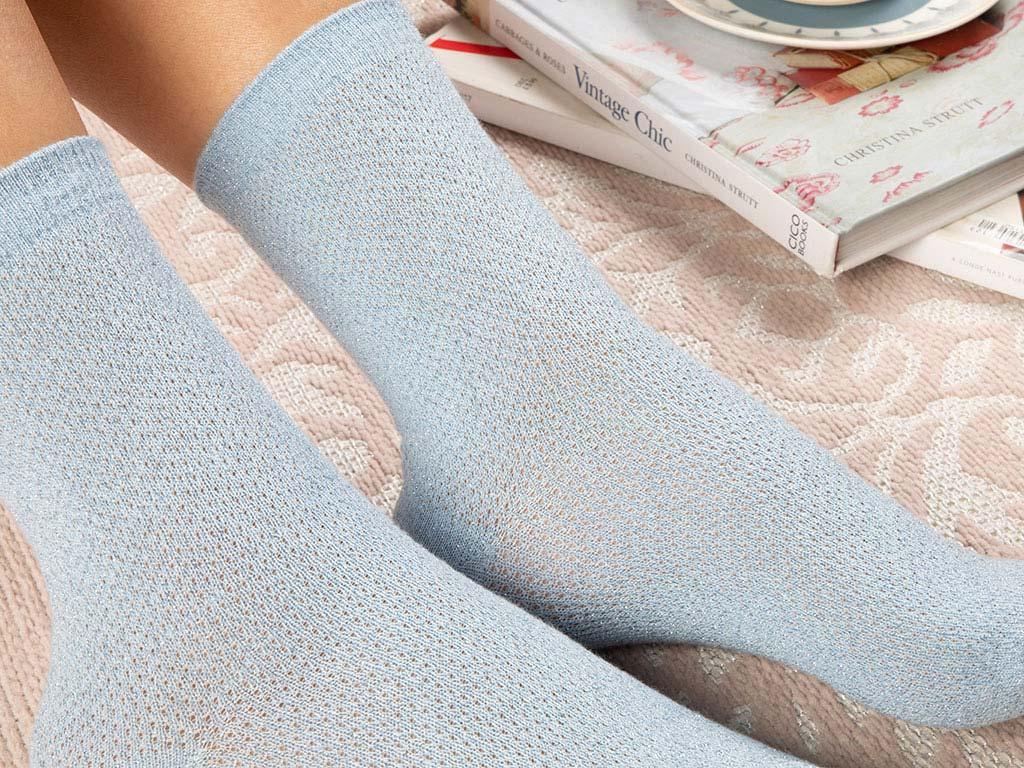 Purler Cotton Socks Mix Blue