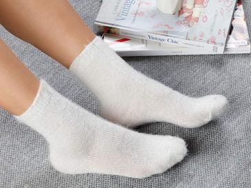 Elegance Чорапи Светлокремаво