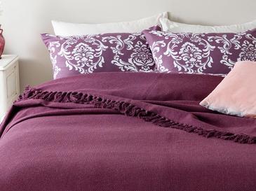 Crimped Покривало за Легло Единичен Размер 160x240 См Слива
