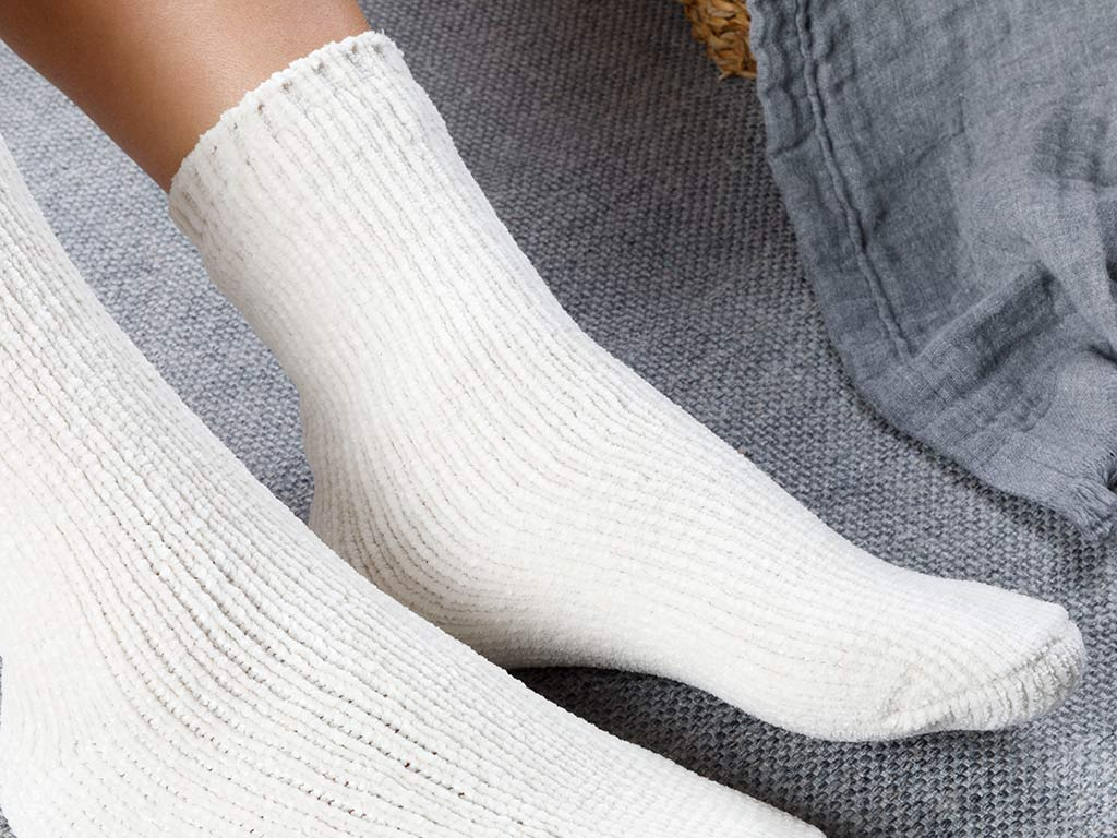 Velvet Women's Socks 36-38 Ecru