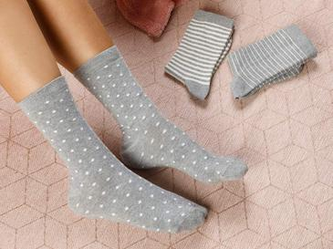 Colourful Чорапи Стандарт Бяло-Сиво